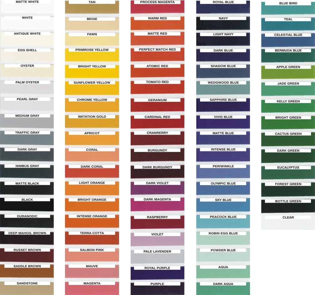 Paint color charts color charts colour chart red orange alt nvjuhfo Gallery