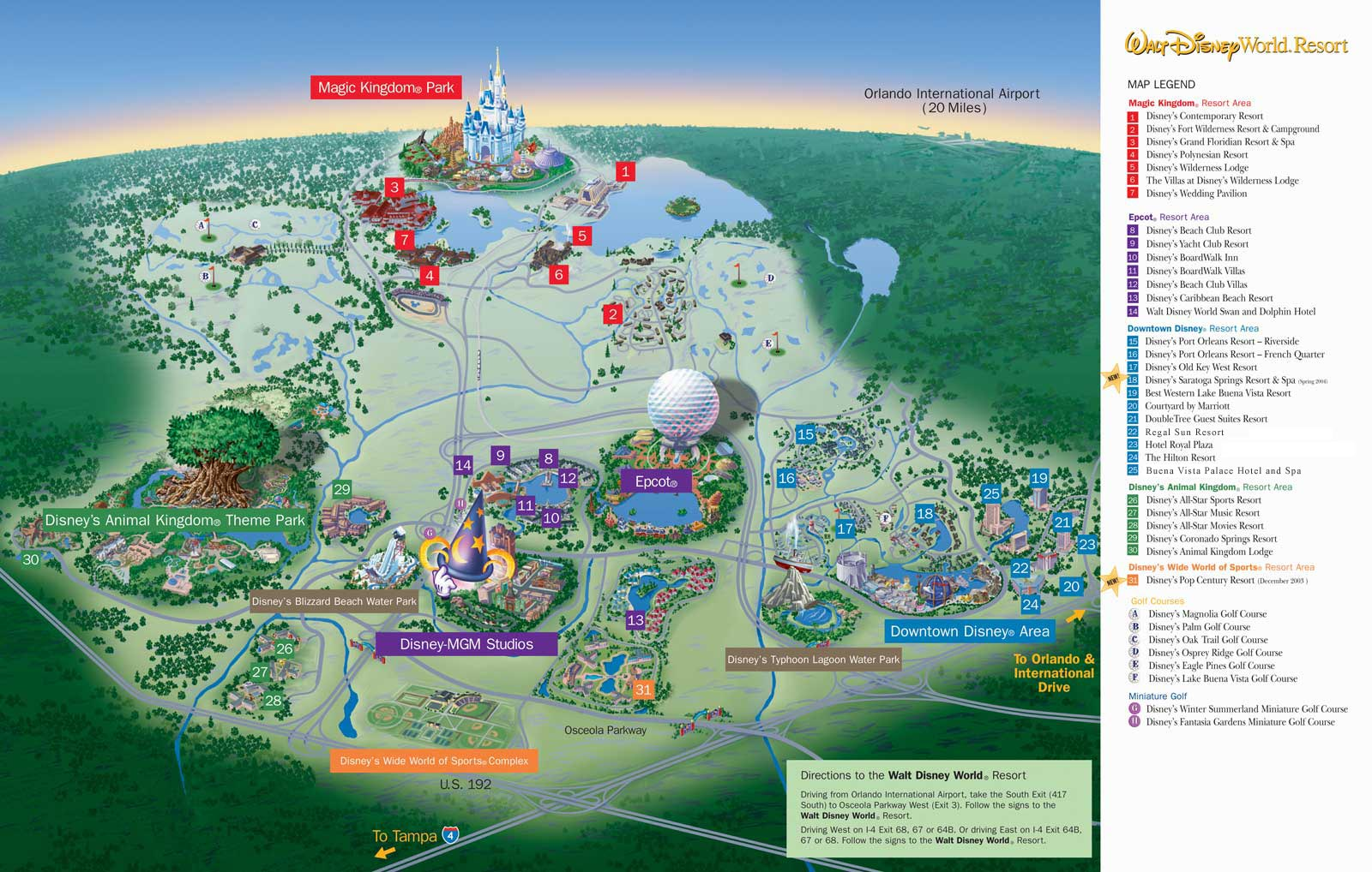 Map Of Walt Disney World Disneyworld Map. Disney World Map. Map of the Disney World in
