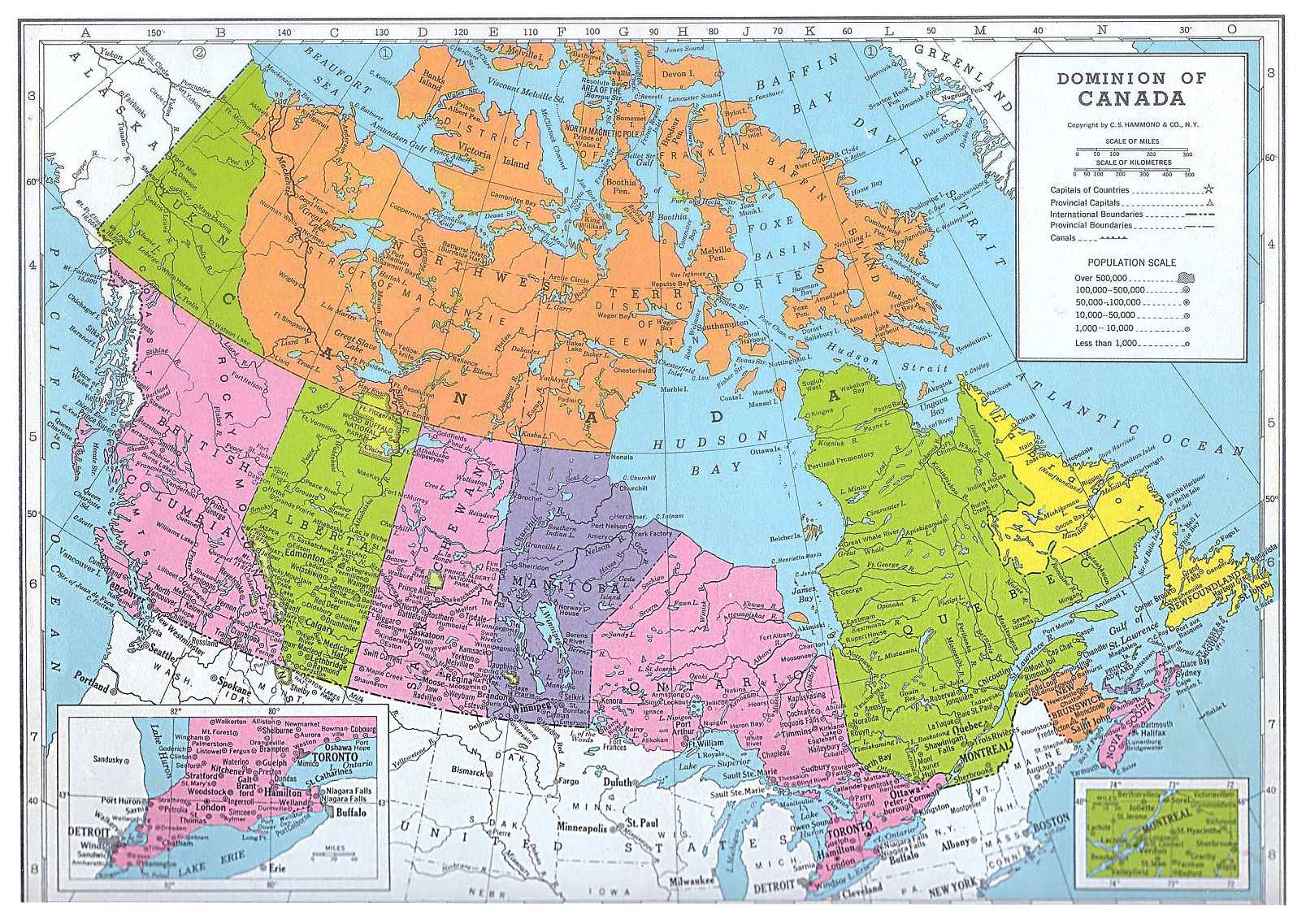 A Map Of Canada With Cities.Map Of Canada Detailed Map Of Canada Canadian Geography Cities