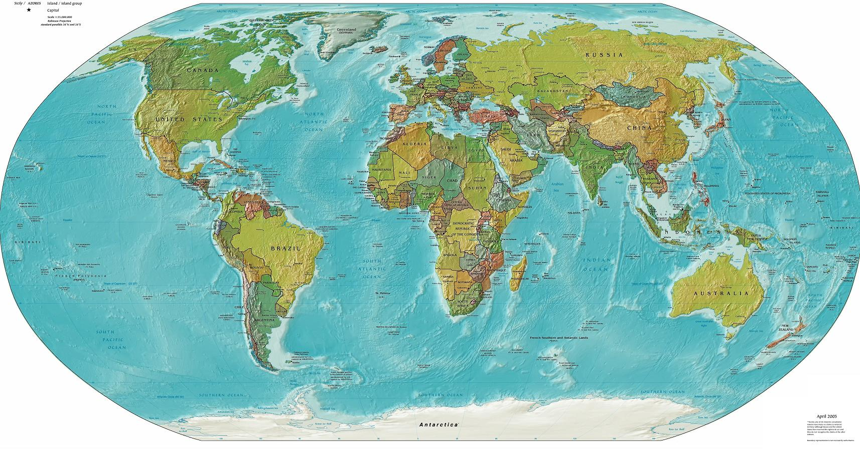 Map Of Earth. Map of the World. Printable. (mapofearth) - Ygraph.com MAP OF EARTH