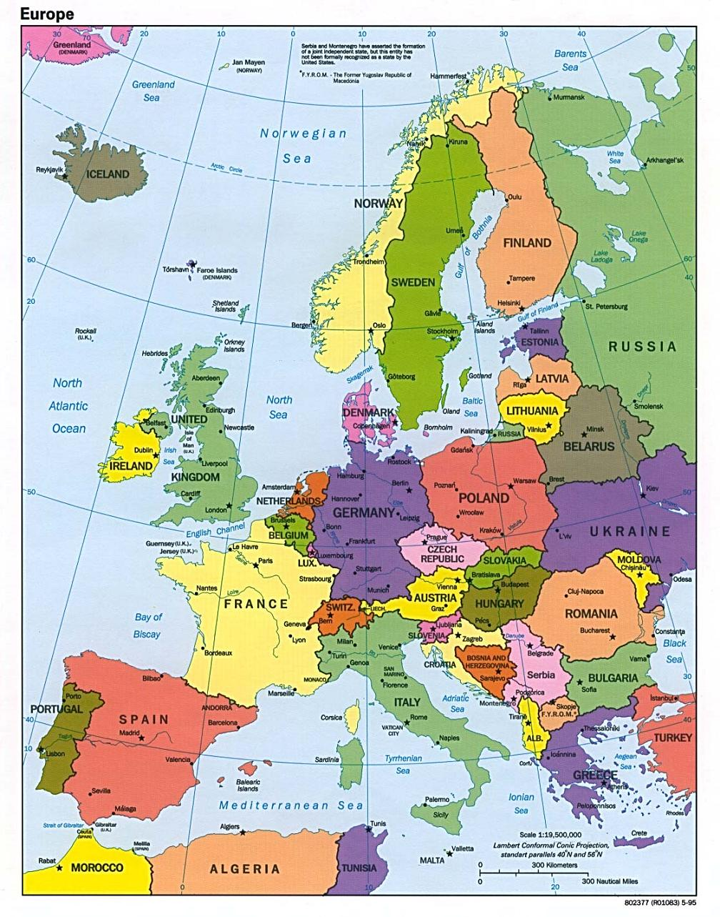 Map Of Germany And Italy.Map Of Europe Europe Map European Map Map Of European Union