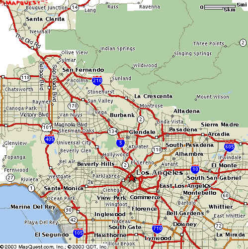 Downtown Los Angeles Map on