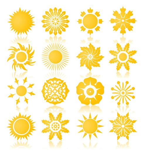 Sun Symbol Sun Symbols Sun Sign Solar Symbols The Sun