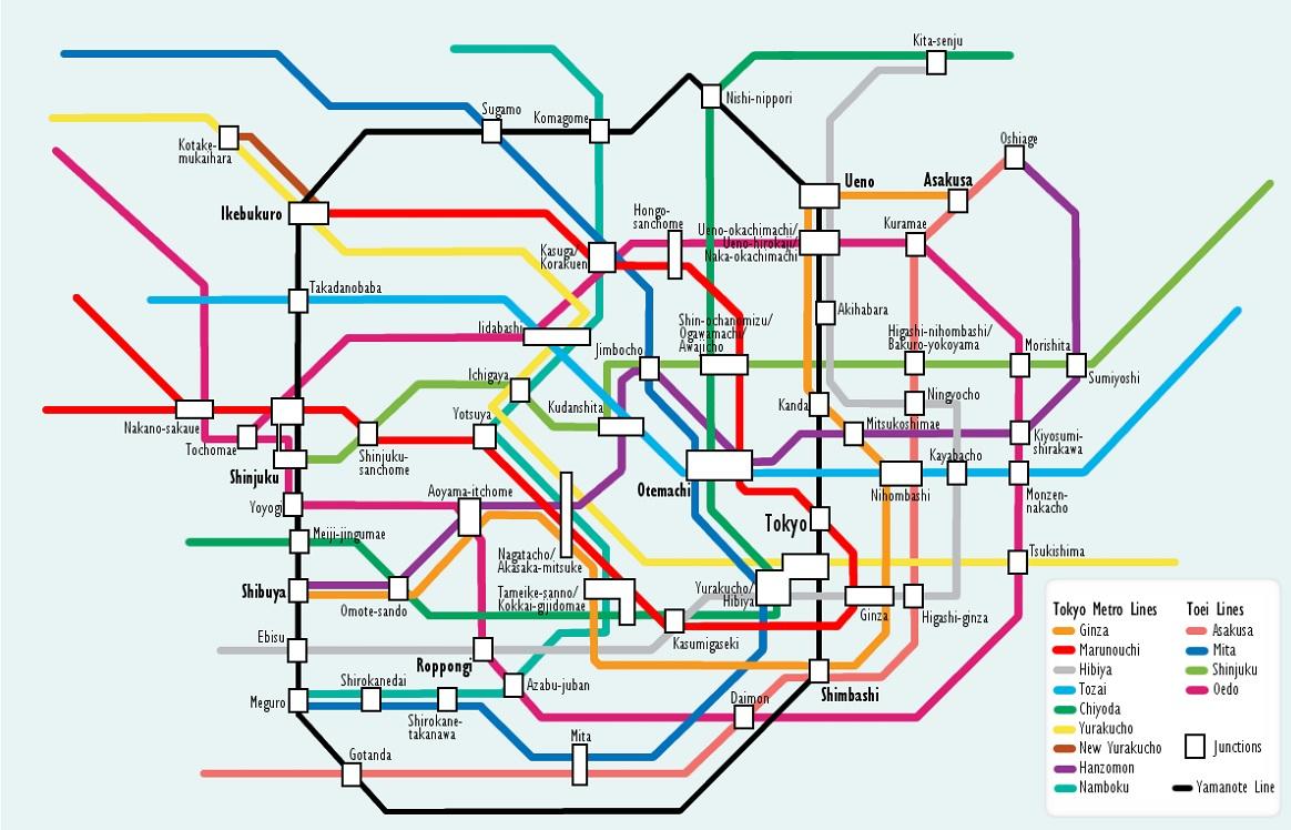 Tokyo Metro Lines Tokyo Metro System Tokyo Subway Map Tokyo
