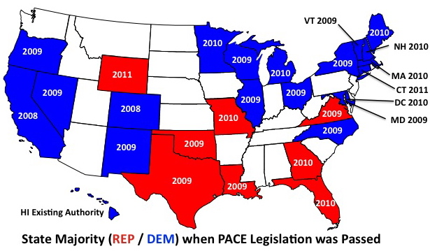 USA Political Map Republican And Democrats State Map Political - Us political party map