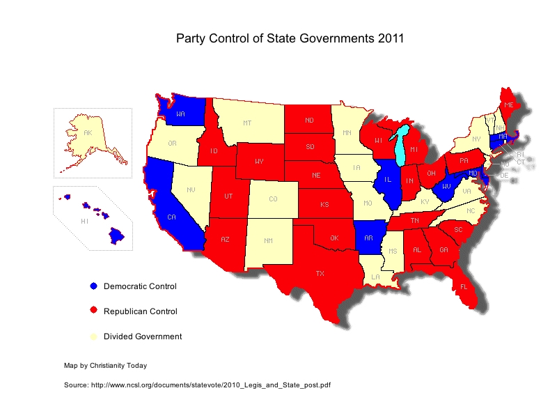 Usa Politics Map By State 2011 Democrats And Republicans: Abortion Laws By State Map At Slyspyder.com